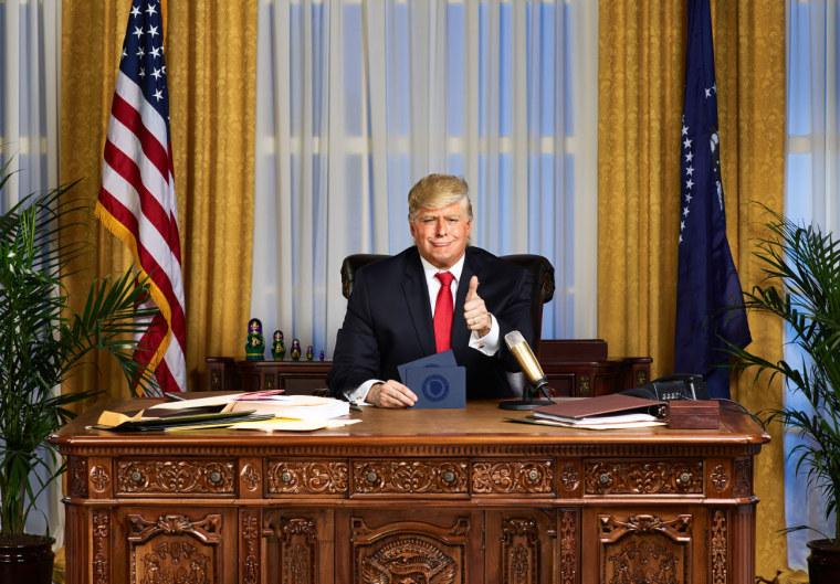 Image: Anthony Atamanuik as Donald Trump