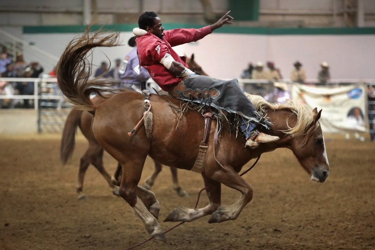 Image: Black Cowboys Compete At The Bill Pickett Invitational Rodeo In Memphis on April 1, 2017
