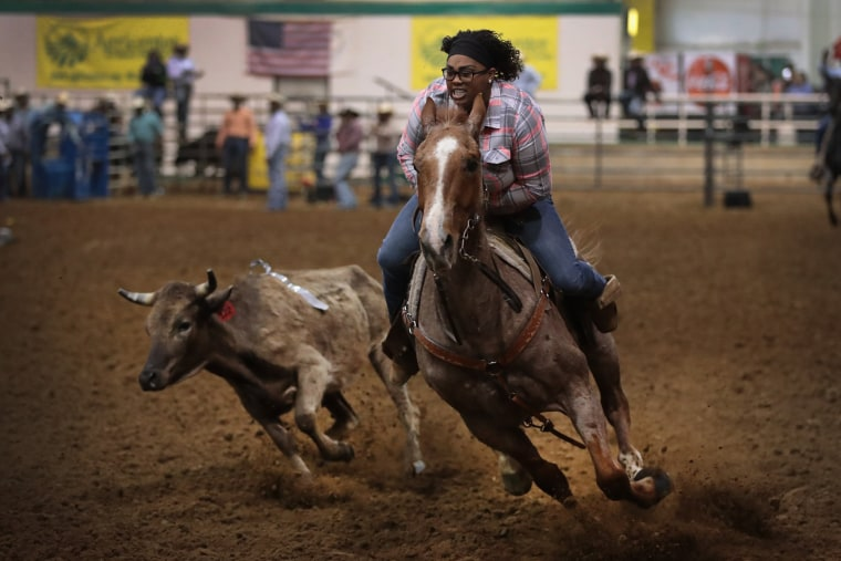 Image: Black Cowboys Compete At The Bill Pickett Invitational Rodeo In Memphis on March 31, 2017