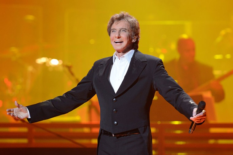 Barry Manilow performs at First Direct Arena Leeds last year in Leeds, England