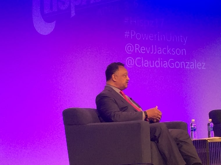 The Rev. Jesse Jackson speaks at Hispanicize on April 4, 2017.