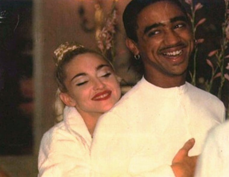 "File photo of Madonna and José Gutierrez, one of iconic ""Vogue"" dancers on her Blonde Ambition tour."