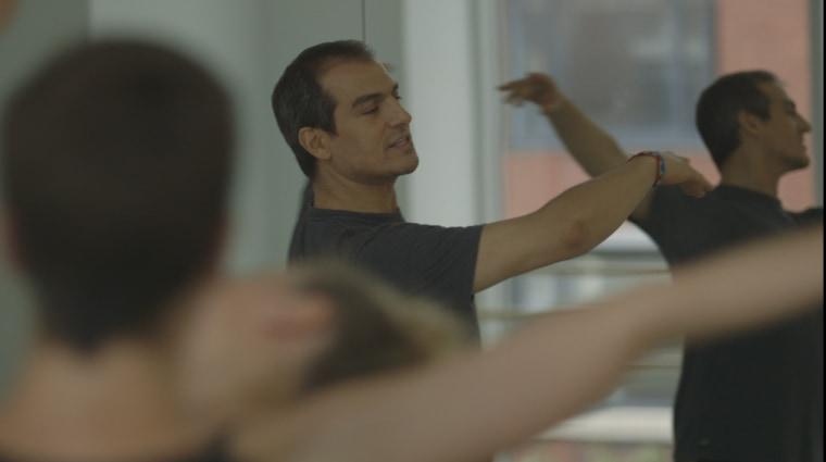 Salim in his dance studio