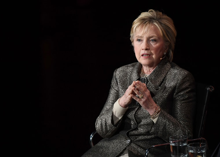 Image: Hillary Clinton speaks at the Eighth Annual Women in the World Summit