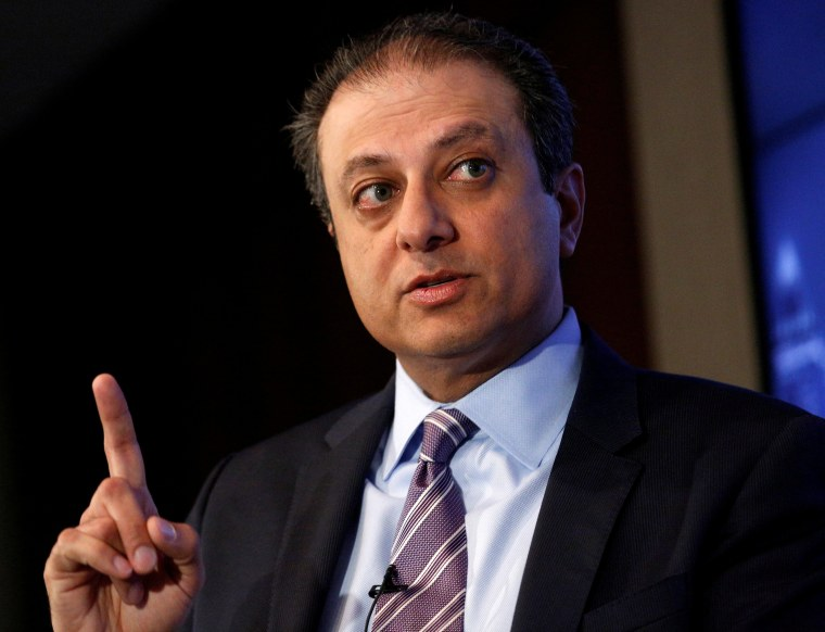Image: FILE PHOTO: U.S. Attorney for the Southern District of New York Preet Bharara speaks during a Reuters Newsmaker event in New York