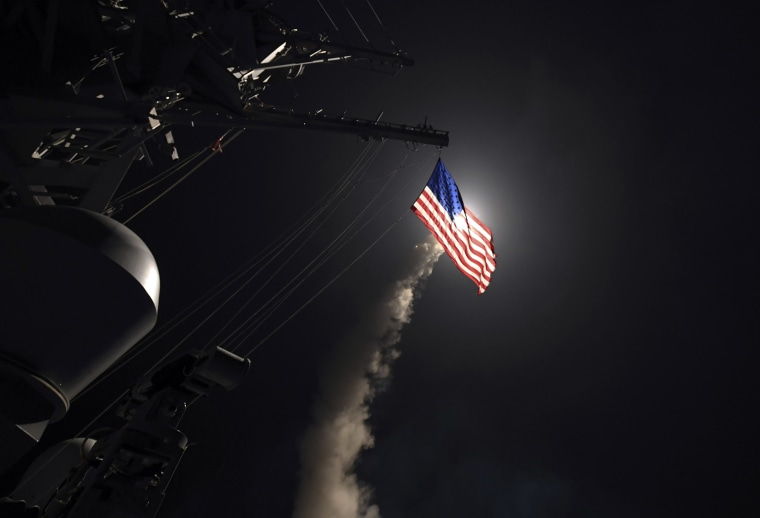 Image: USS Porter launches a tomahawk land attack missile