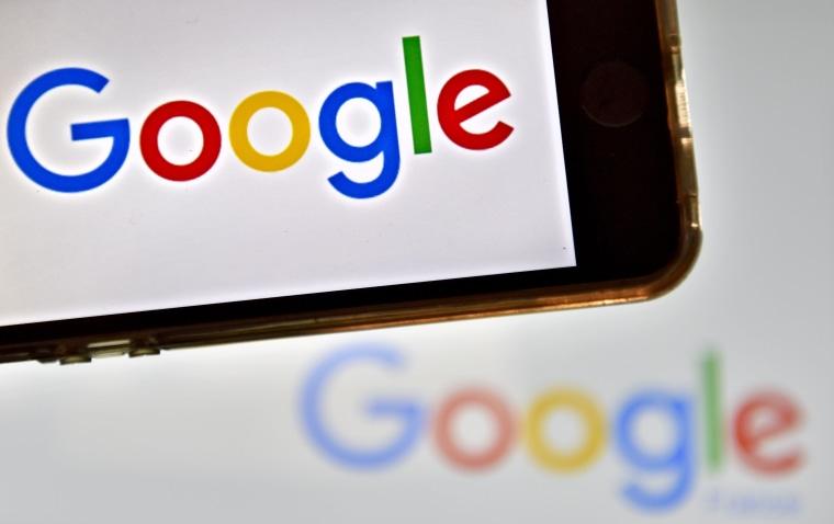 Image: The logos of multinational technology company Google