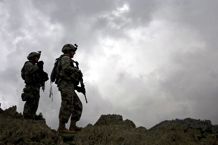 Image: U.S. soldiers from 101st Airborne Division, 506th Infantry Regiment, 2nd Battalion, 4th Platoon patrol in Khost province