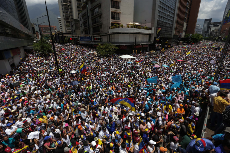 Image: Oppostion protests continue in Venezuela