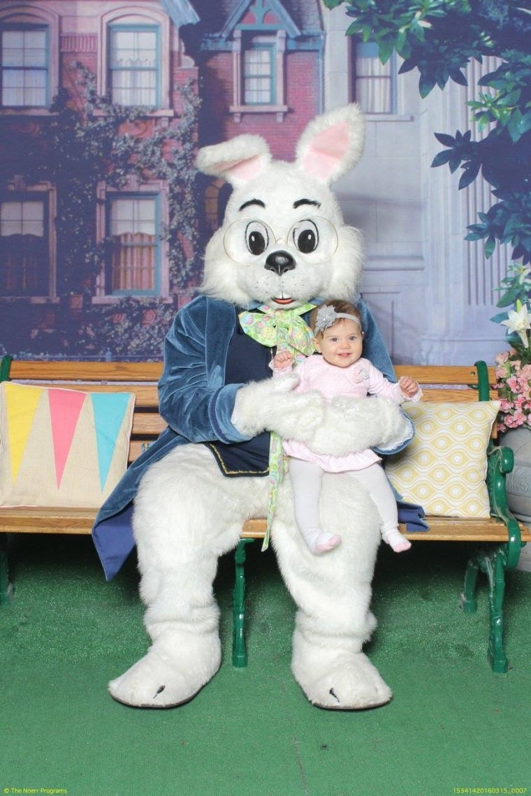 While Fiona Raimondi loved the Easter Bunny last year...