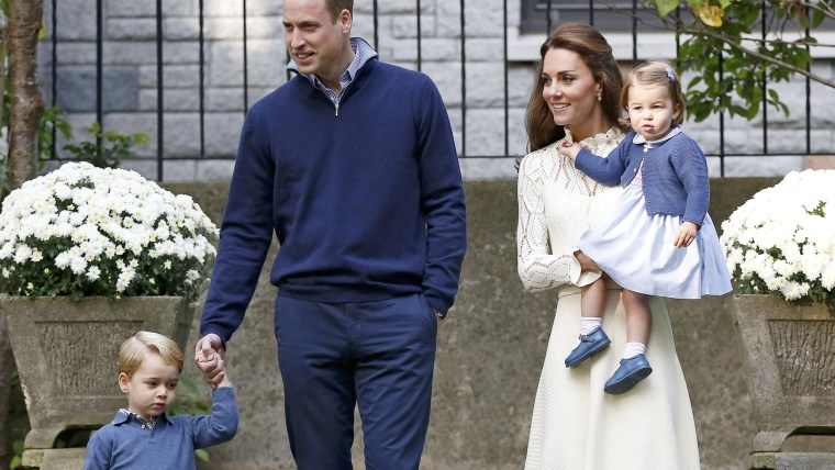Britain's Prince William, Catherine, Duchess of Cambridge, Prince George and Princess Charlotte