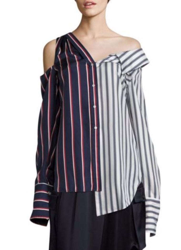 Asymmetric Striped Top