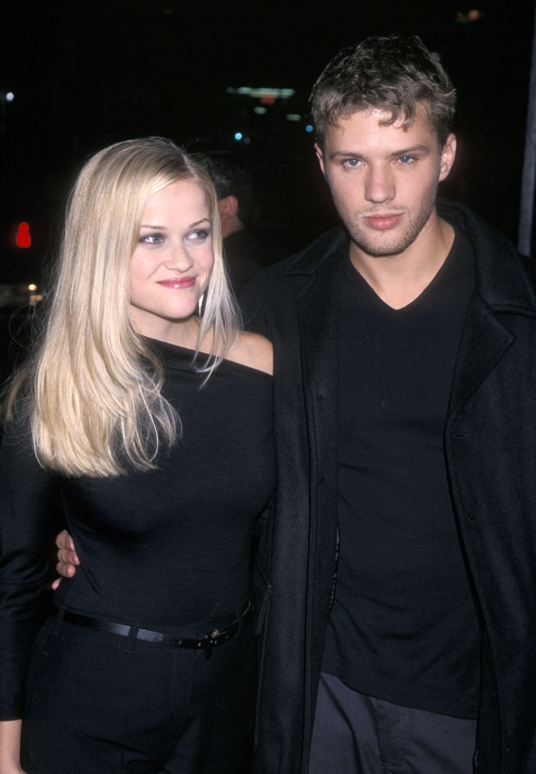 Reese Witherspoon attends a film premiere with Ryan Phillippe