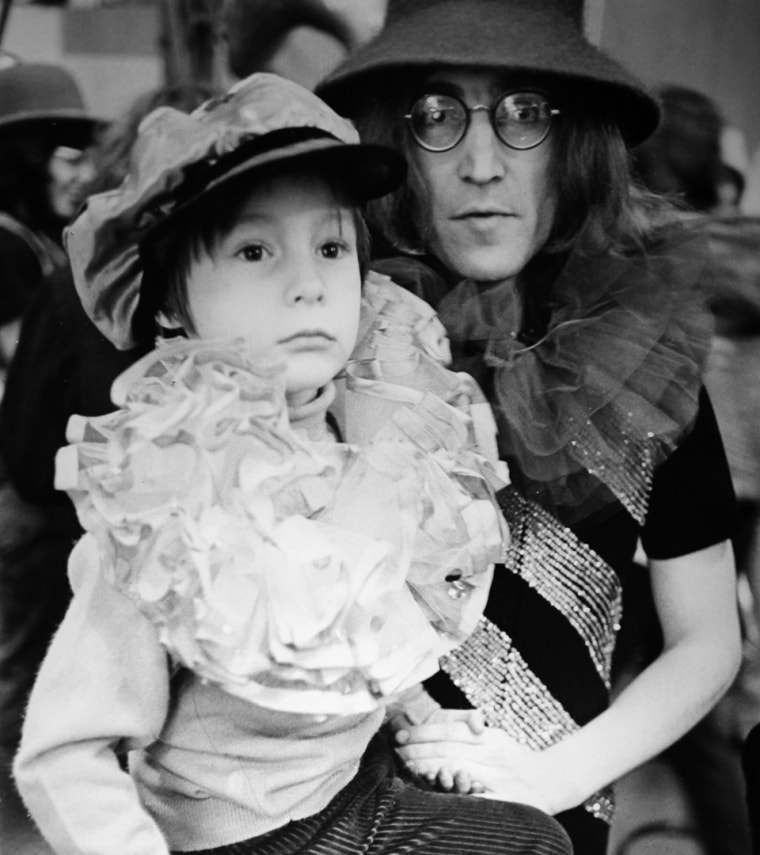 John Lennon and his son Julian Lennon