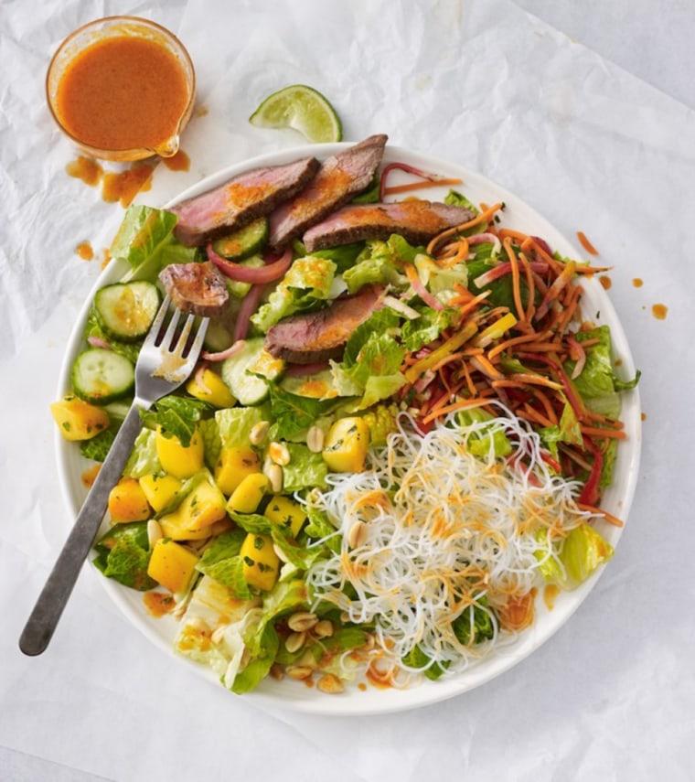 Steak and mango salad