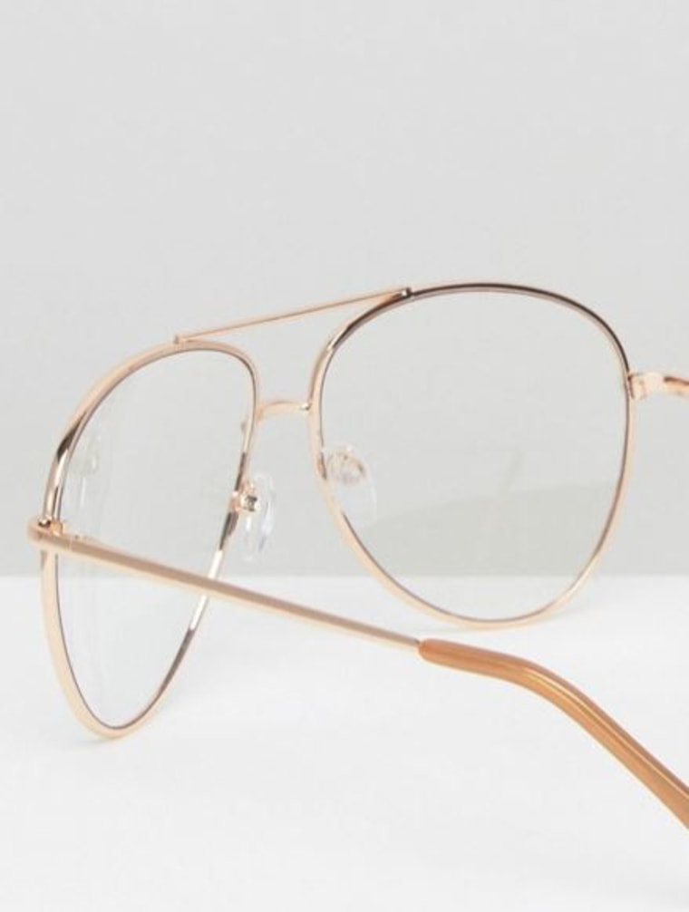 Geeky Metal Frame Aviator with Clear Lense