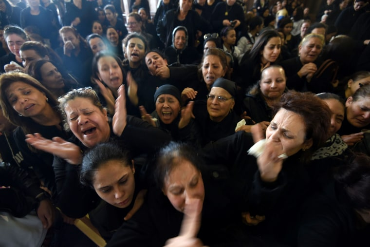 Image: Women mourn at the Monastery of Marmina, April 10.