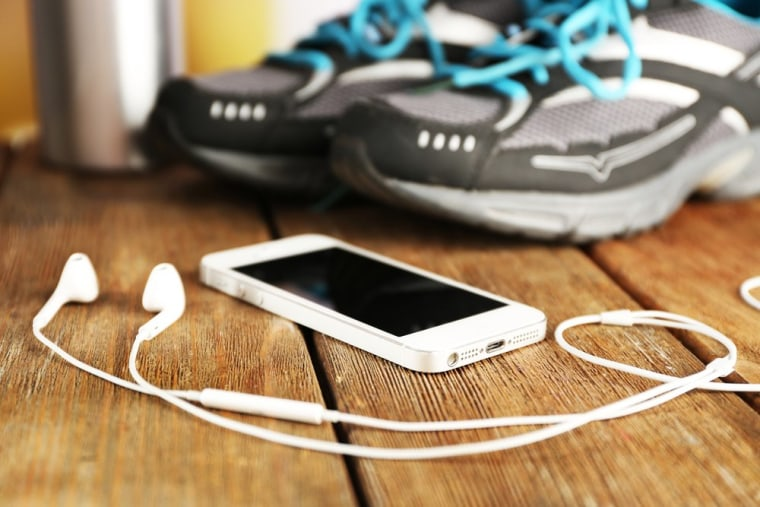 Image: music-workout-sneakers-phone-stock