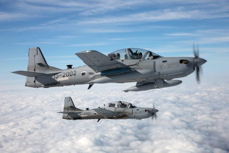 Embraer's A-29 Super Tocano aircraft