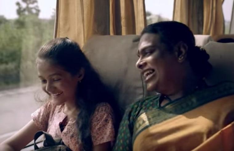 Screenshot from the viral Vicks India ad