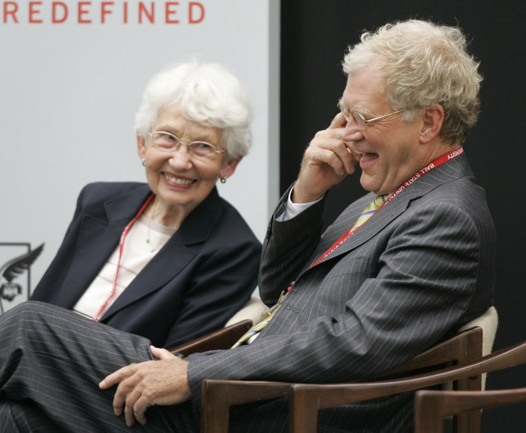 Image: David Letterman, Dorothy Mengering