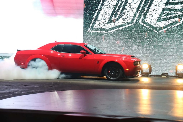 The Demon has been certified by the Guinness Book of World Records as the only production car capable of performing a wheelie.