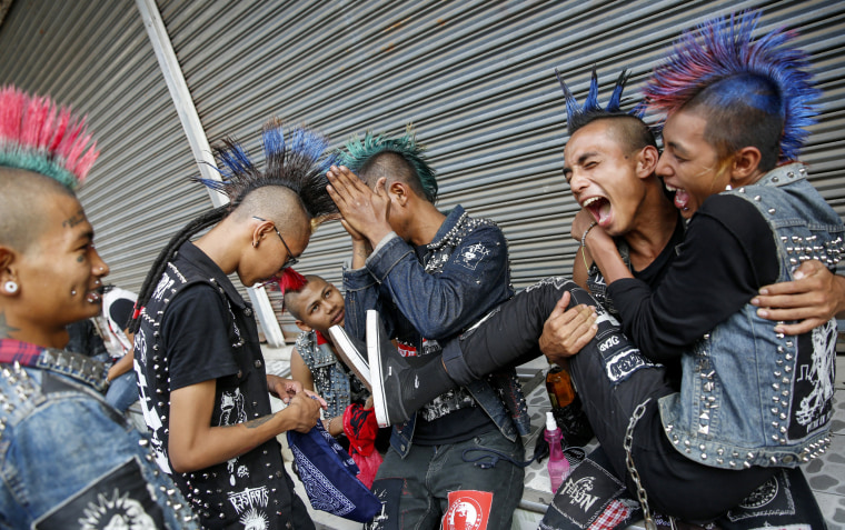 Image: Myanmar punks celebration ahead of Thingyan water festival