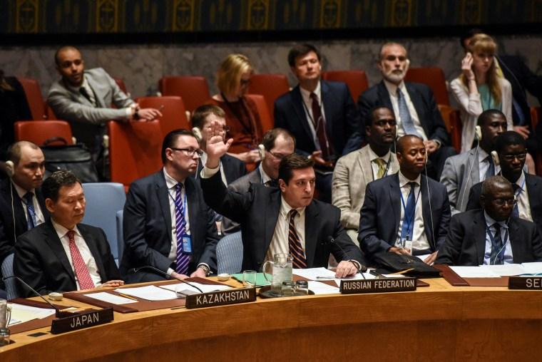 Image: Russian Deputy Ambassador to the United Nations Vladimir Safronkov