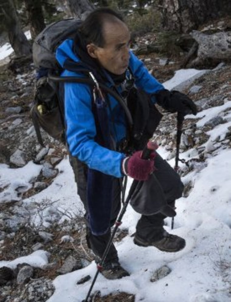 """Seuk """"Sam"""" Kim, a hiker who climbed Mt. Baldy more than 700 times, was reported missing Sunday."""