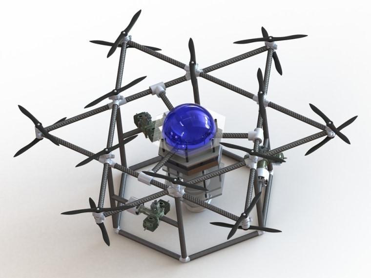 Conceptual image of Team Blue Devil Ocean Engineering's heavy UAV