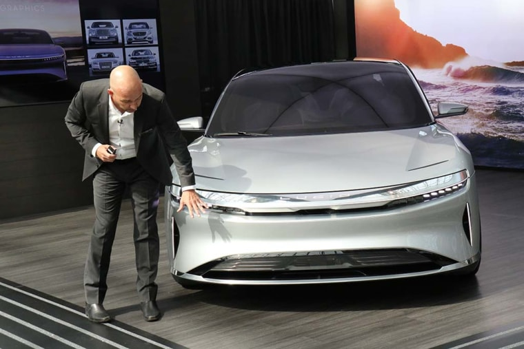 """The Lucid Air is part of """"an absolute revolution on the horizon,"""" said Derek Jenkins, the company's chief designer."""