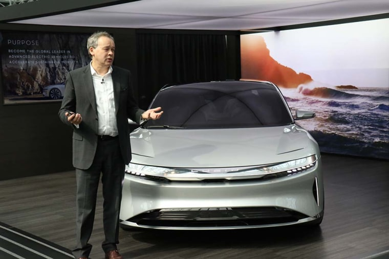 The Lucid Air will go from 0 to 60 in less than three seconds, according to Chief Technical Officer Peter Rawlinson.
