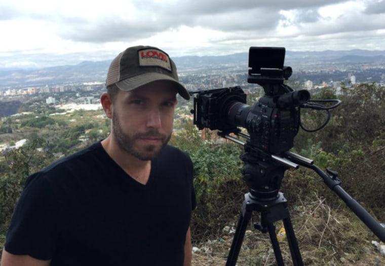 "Director Ryan Suffern in Guatemala during the filming of ""Finding Oscar."""