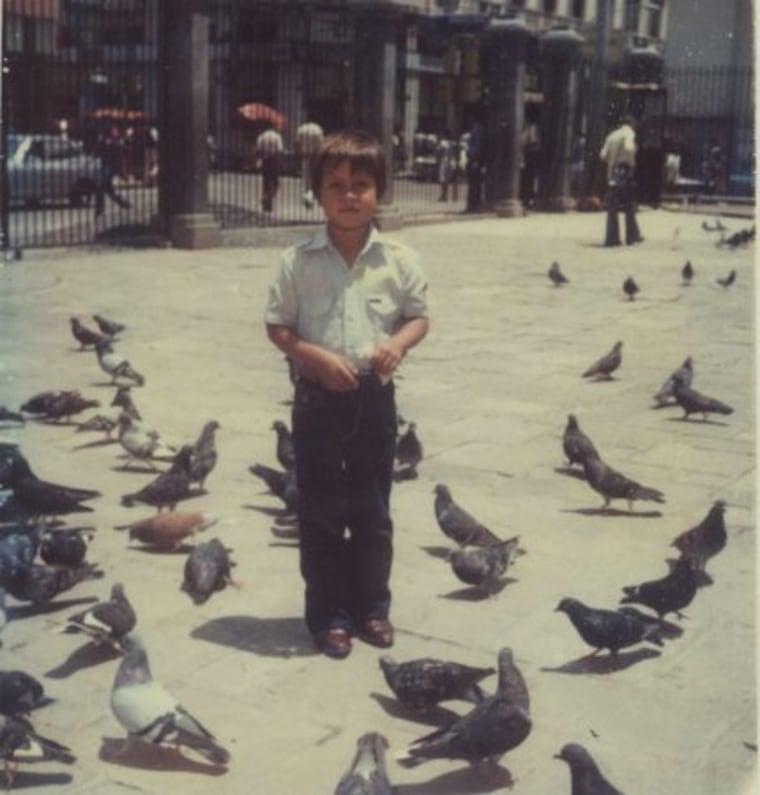 Oscar Ramirez as a young boy in Guatemala.