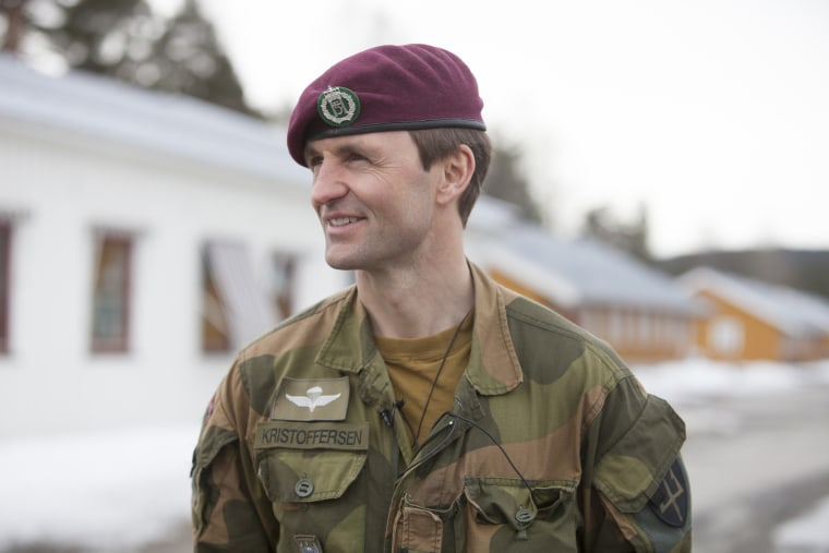 Image: Colonel Frode Kristofferson, the commander of Norway's Armed Forces' Special Command (FSK)