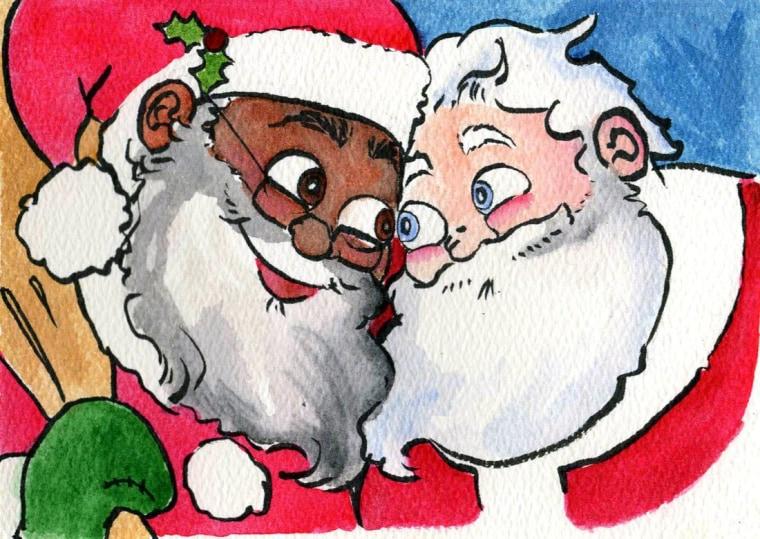 """Original concept illustration for """"Santa's Husband"""""""