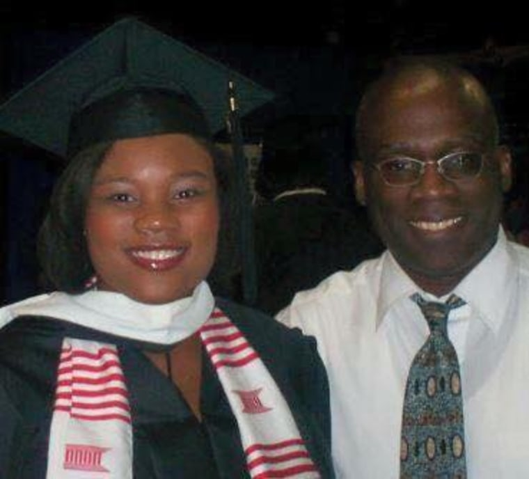 Renetta Dubose with her late step-father Kenneth Parr.