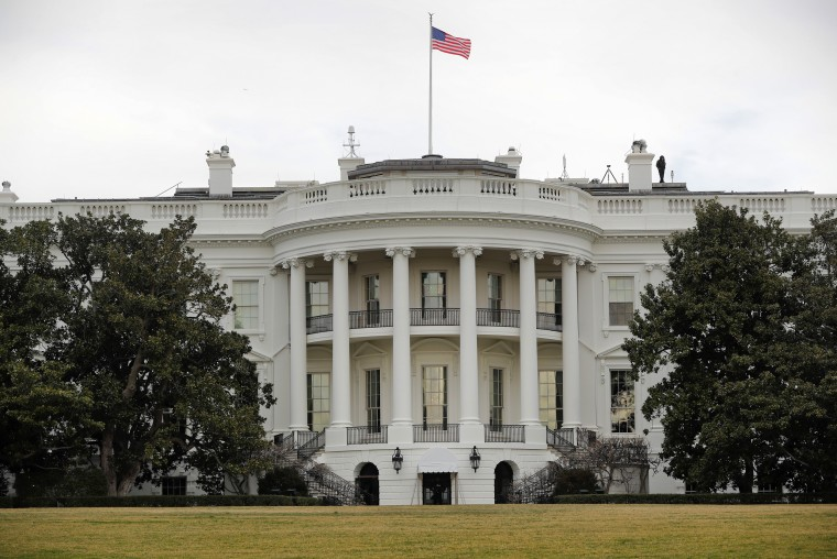 Image: The White House is seen from the South Lawn. The White House won't make public the logs of visitors to the White House complex, breaking with the practice of President Donald Trump's predecessor.