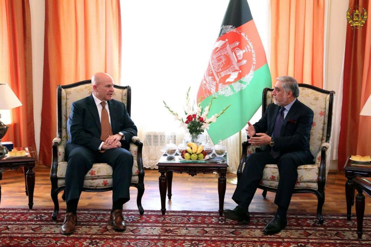 Image: US President Donald Trump's national security adviser H.R McMaster visits Kabul