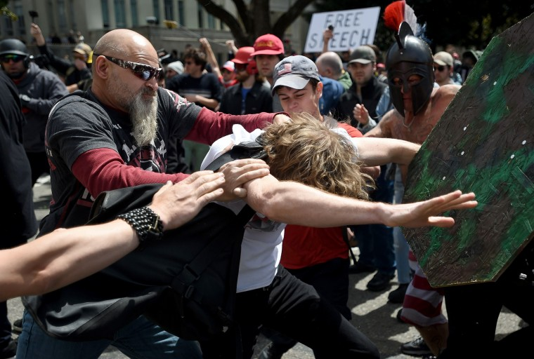 Image: A man gets hit in Berkeley.