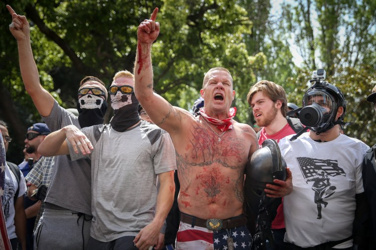Image: Trump supporters face off with protesters in Berkeley.