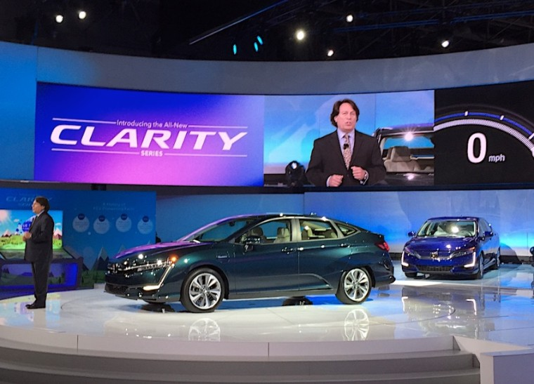 Honda's line of Clarity Electric cars includes a pure battery-electric vehicle with a modest 80 mile range.