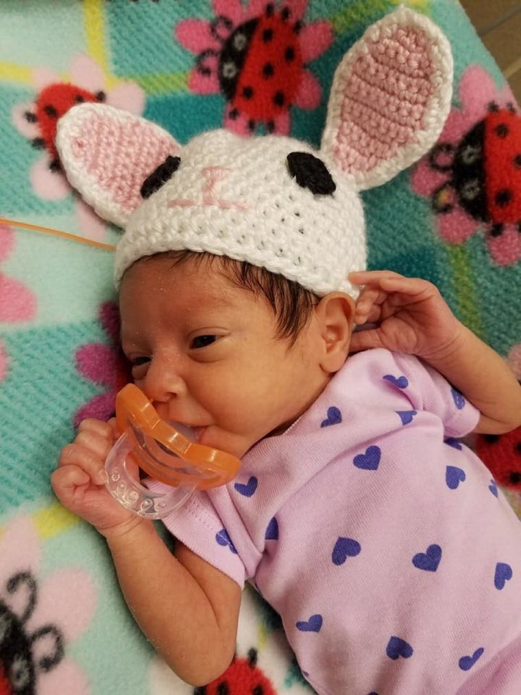 Easter baby hats