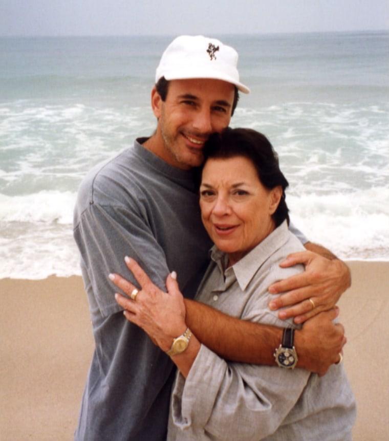Matt Lauer and his mom.