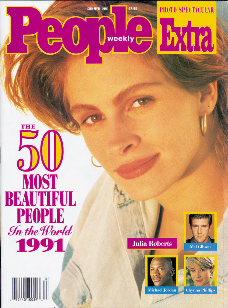 Julia Roberts on the cover of People in 1991