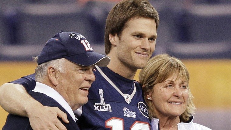 Tom Brady with his parents