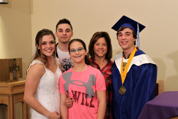 From left to right: Dan Harrahill's daughter Emilea, son Josh, daughter Madison, wife Shelly, and son Noah.