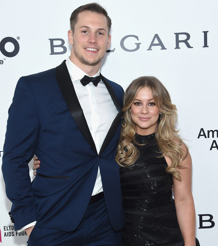Andrew East with desirable, Wife Shawn Johnson