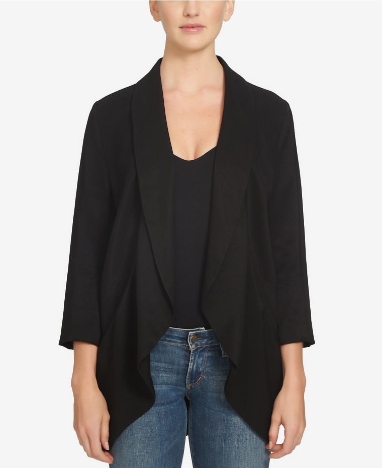 Three-Quarter Sleeve Open Front Jacket