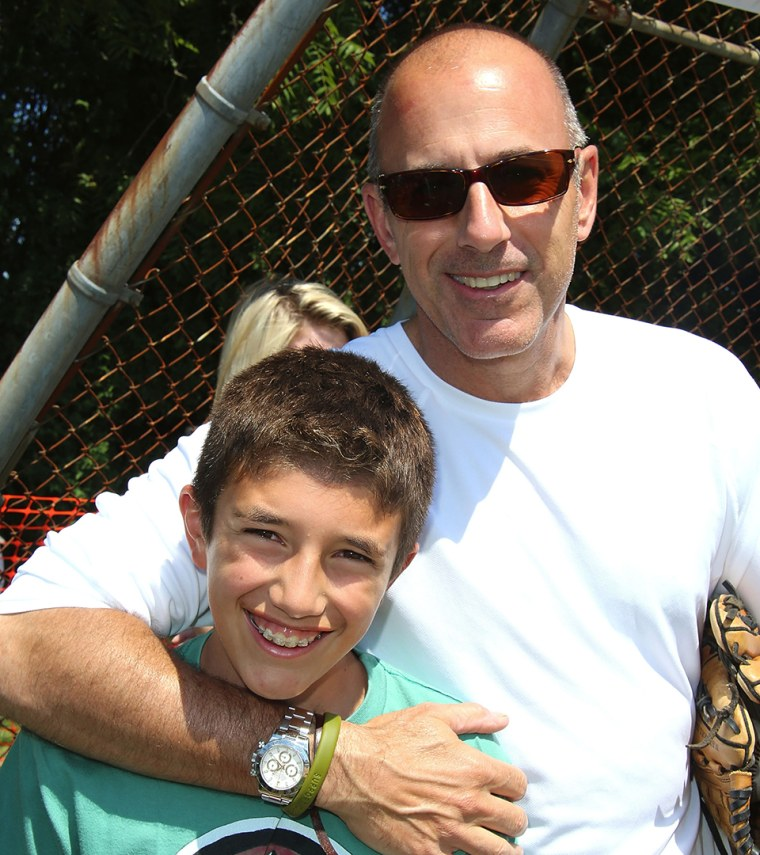 Matt Lauer and son Jack